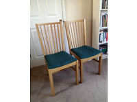 2 x Ikea NORRNÄS dining chairs, excellent condition