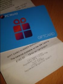 PC World/Currys £150 voucher