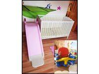 IKEA Baby cot bed with Mattress + SWING & SLIDE BALLYMONEY