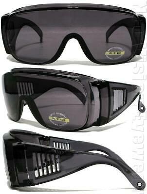 Groß Passt über Meisten Rx Sicherheits Brille Shield Sonnenbrille Dunkel Rauch /