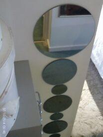 NEW set of 7 round wall mirrors