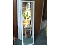 long white wooden mirror 130 x 38 cm