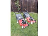 Two petrol lawnmowers not working spares or repairs