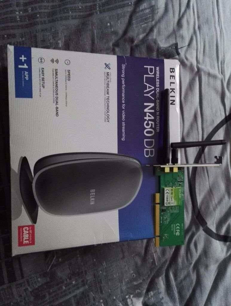 Belkin Play N450DB router and TP link wireless pci card