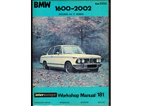 INTEREUROPE BMW 1600 - 2002 WORKSHOP MANUAL INCLUDING ALL TI MODELS FROM 1966
