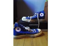 Converse All Star Hi Top 7.5 Royal Blue