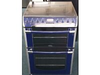 Belling 60cm double oven and grill electric ceramic cooker