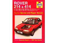 HAYNES ROVER 214 & 414 SERVICE REPAIR MANUAL 1989 - 1996 PETROL MODELS