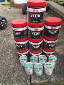 7 large lead free solder and 10 large laco flux