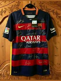 Team Signed Barcelona shirt 15/16 season with Coa