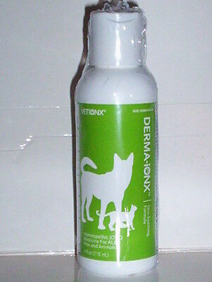 DERMA-IONX SKIN-SOOTHING FORMULA HOMEOPATHIC LIQUID PETS ANIMALS DOGS CATS 4 OZ