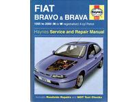HAYNES FIAT BRAVO & BRAVA SERVICE AND REPAIR MANUAL 1995 to 2000
