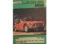 MGB Car repair Manual 1962 on