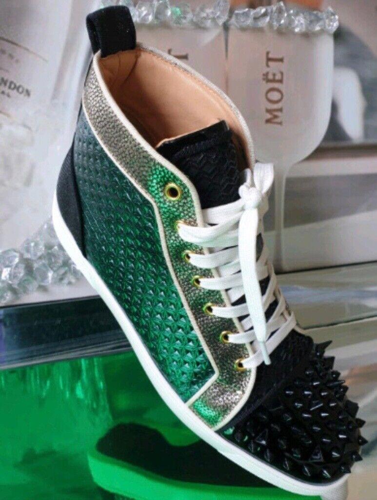 half off 3936f 94298 Christian Louboutin Black / Green Spike Trainers Sneakers Luxury Designer  Brand 100% Genuine | in Leyton, London | Gumtree