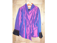Wei Na Si purple jacket with detailed cuffs size medium. Worn once.