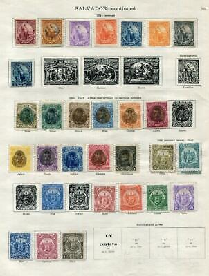 SALVADOR: 1894-1897 Examples - Ex-Old Time Collection - 2 Sides Page (41603)