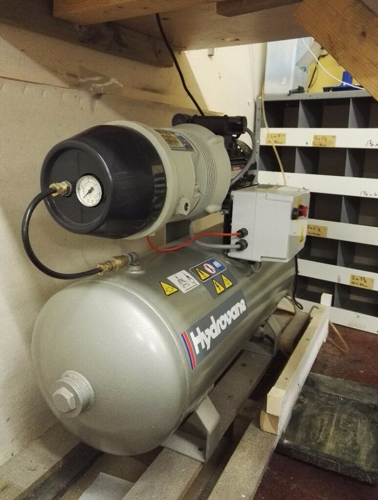 Hydrovane 502 Air Compressor, 2.2Kw, 90L Tank - BARELY USED - MINT CONDITION