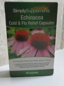 Simply Supplements Echinacea Cold & Flu Relief Capsules x 60