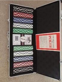 Professional 500 Piece Texas Hold Em Poker Chips Set