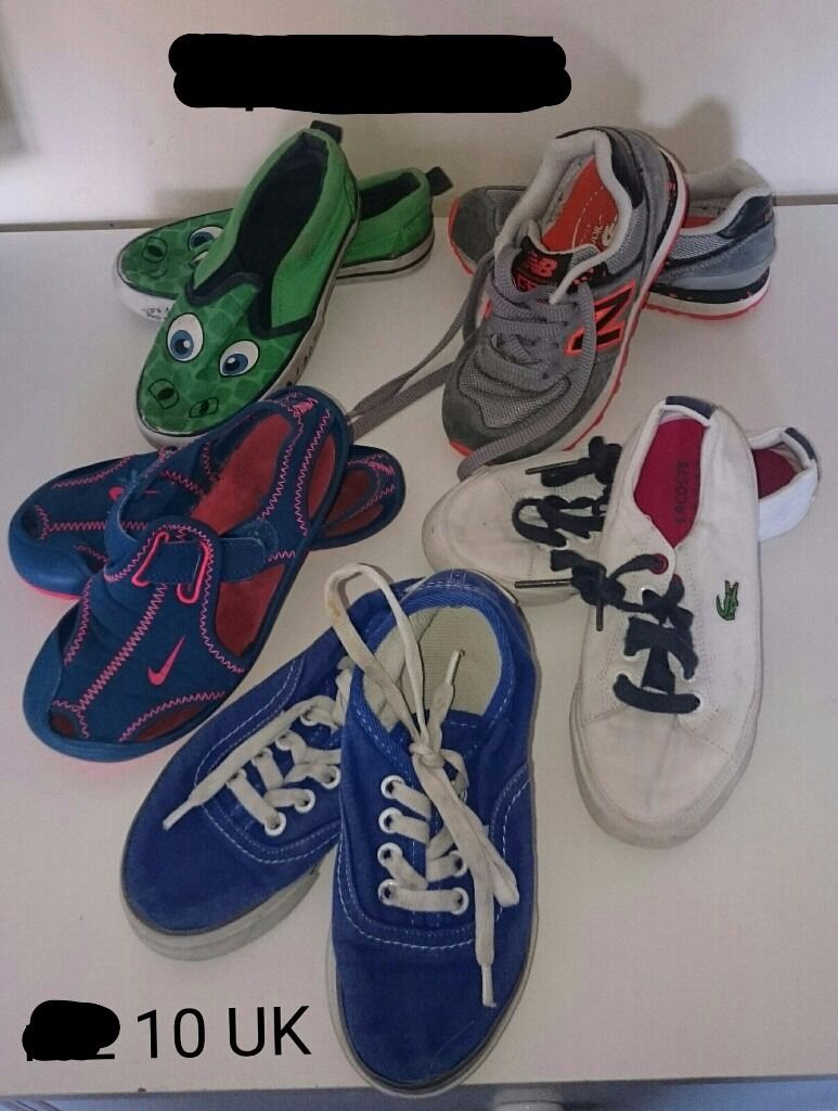 5 pairs of shoes , size 10UK
