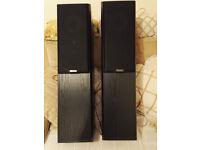 2 mission speakers model 702 2way reflex loaded power 25-100 w/ch