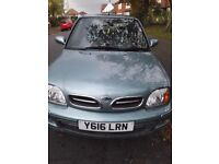 Nissan Micra 2001 - Low Mileage - 12 Months MOT - Full Service History