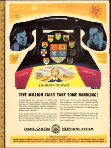 1950 magazine ad for Trans-Canada Telephone System