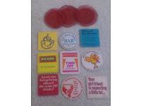 Selection of retro-vintage drink coasters