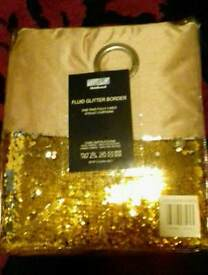Natural glitter curtains 90 by 90