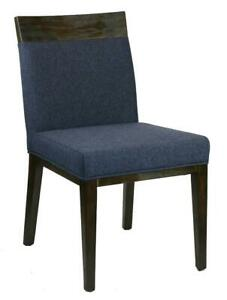 20 - Blue Fabric Dining Chair with Espresso Wood Frame n Clearance Price