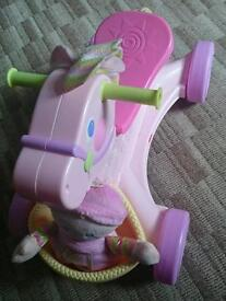 Fisher price musical ride on horse