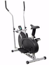 Elliptical Cross Trainer & Bike 2 in 1 Home Workout Cycle Trainer