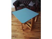 Retro Formica and Wood Drop Leaf Table