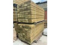 Wooden Treated Railway Sleepers ~ New