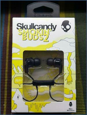 Skullcandy Smokin' Buds 2 Earbud Headphones w/ Mic BLACK New S2PGFY-003