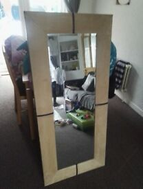 Leather swade mirror