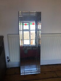 Gorgeous full length mirror with bevelled edges
