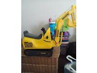Ride on kids digger. Battery controlled