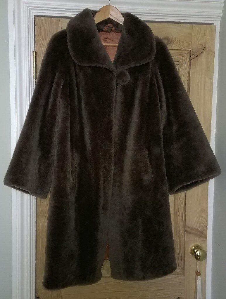 Lovely old 50's style false fur coat