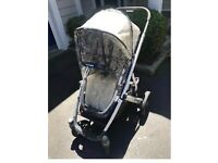 Uppababy Vista stroller and bassinet (wheat)