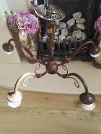 2 x rustic style 5 bulb chandelier