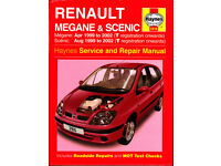 HAYNES RENAULT MEGANE & SCENIC MANUAL 1999 - 2002 (T reg onwards) PETROL & DIESEL