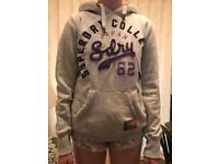 Superdry Grey Hoodie Womens Small
