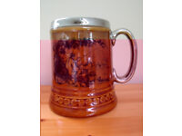 Vintage Lord Nelson Pottery ceramic brown/gilded fisherman mug/tankard/beer stein. £8 ovno.