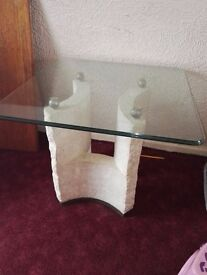 Glass table very heavy