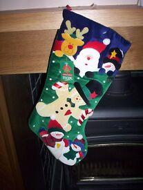 REALLY LOVELY SNOWMEN FATHER XMAS, RUDOLPH JOLLY HOLIDAY CHRISTMAS STOCKINGS NEW
