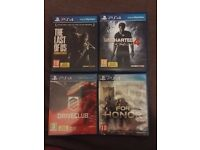 X4 ps4 games in very good condition