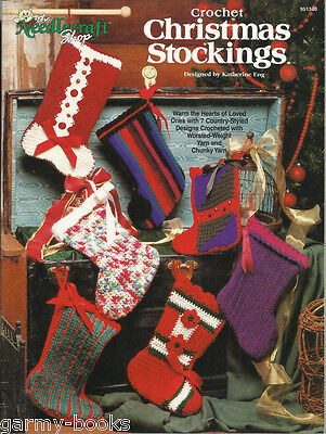Country Style Katherine Eng Crochet Patterns TNS 1995 NEW (Country Christmas Stockings)
