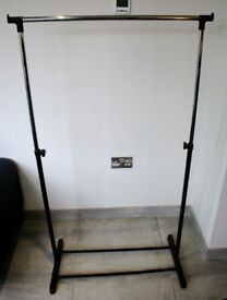 Clothes Hanging Rail 145cm max hang, 73.5cm length of rail