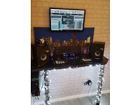 Dj equipment. Ddj RX and studio monitors